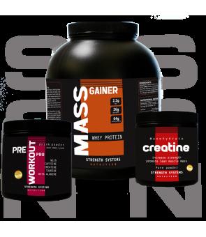Mass Gainer - Creatine 300gr - Pre Workout Pro