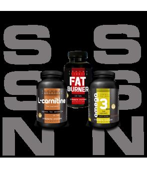 Fat Burner Pro 120 tabs - L-Carnitine 60 Tabs - Omega 3-6-9 Softgel 90