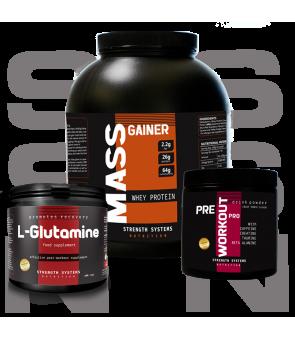 Mass Gainer - Pre Workout Pro 300gr. - L-Glutamine 250gr.