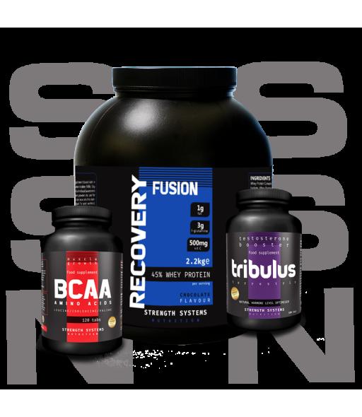 Recovery Fusion 2.25kg - BCAA Amino Acids 120tabs - Tribulus Terrestris 120caps