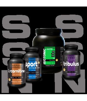 Tribulus Terrestris 120Caps - L-Carnitine 60Tabs - Sport Vitamins 120Tabs - Isotonic Electro 1kg